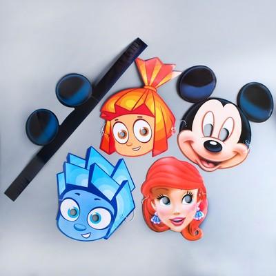 Set of carnival masks Mix 1, 5 PCs