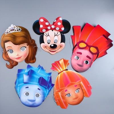 Set of carnival masks, a Mix of 2, 5 PCs