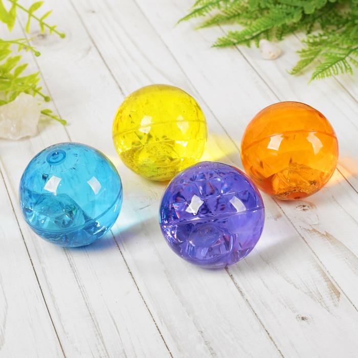Мяч с водой «Кристалл», световой с блёстками, цвета МИКС