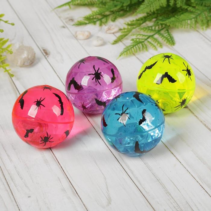 Мяч с водой «Мышь», световой, с блёстками, цвета МИКС