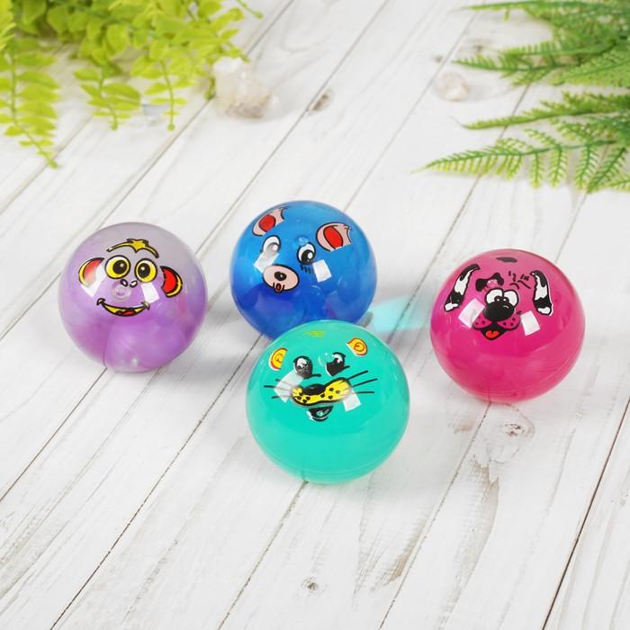 Мяч с водой «Мордочка», световой, цвета МИКС