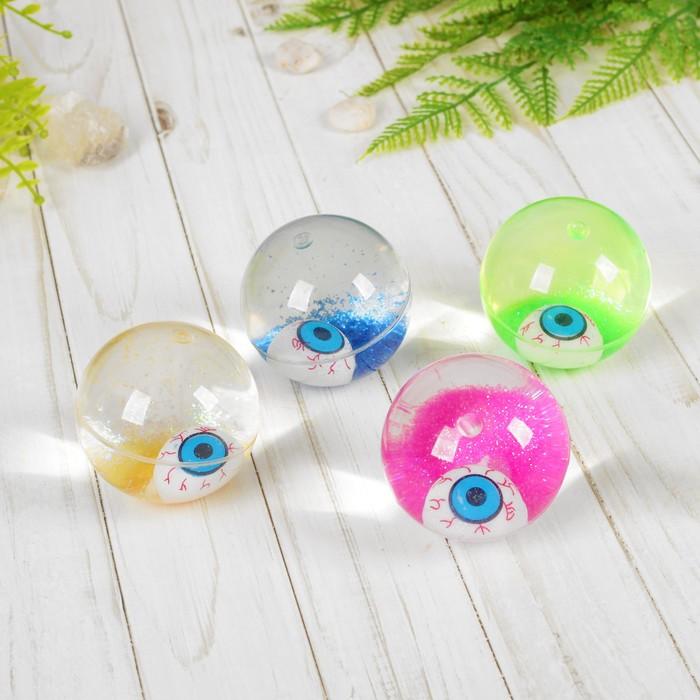 Мяч с водой «Глаз», световой с блёстками, цвета МИКС