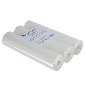 Чековая лента термо 57мм 40м 57х12х40, 48 г/м2, 12 штук, чёрный оттиск
