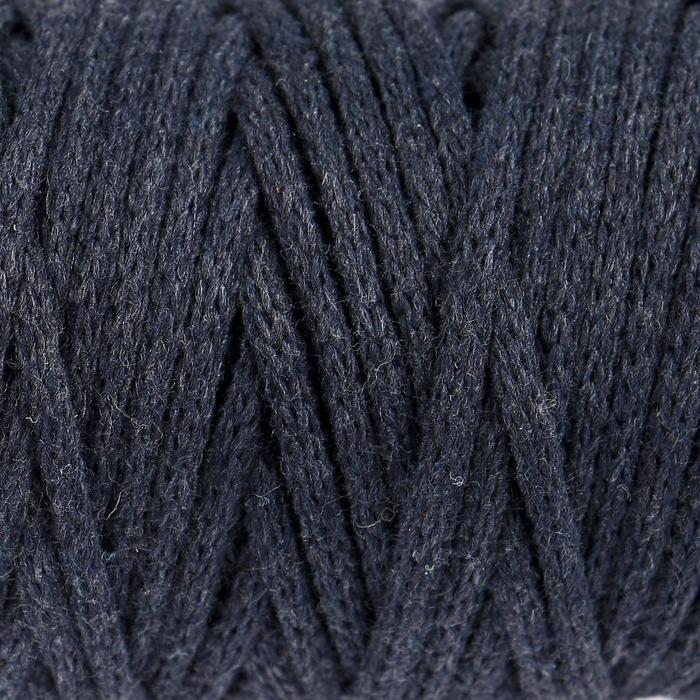 """Шнур для рукоделия хлопковый """"Софтино"""" 100% хлопок 4 мм, 50м/140гр (тёмный джинс)"""