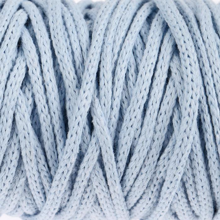 Шнур для рукоделия хлопковый  100% хлопок 4 мм, 50м/140гр (голубой)