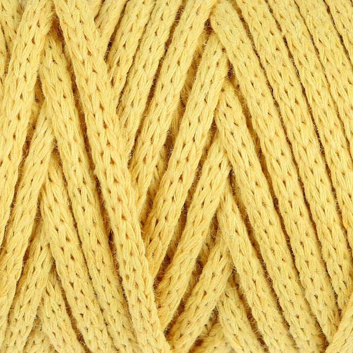 """Шнур для рукоделия хлопковый """"Софтино"""" 100% хлопок 4 мм, 50м/140гр (жёлтый)"""