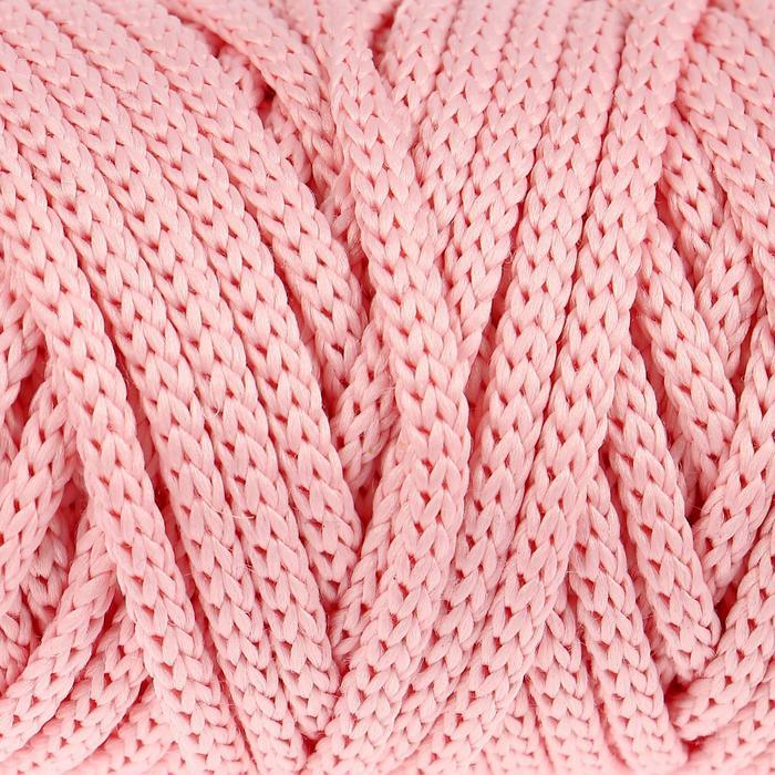 Шнур для рукоделия полиэфирный  4 мм, 50м/110гр (св. розовый)