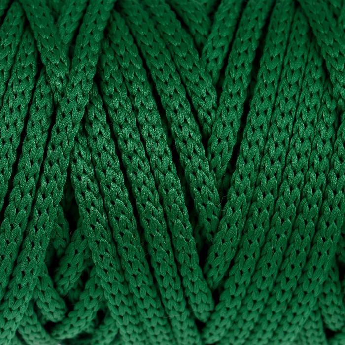 """Шнур для рукоделия полиэфирный """"Софтино"""" 4 мм, 50м/110гр (т. зелёный)"""