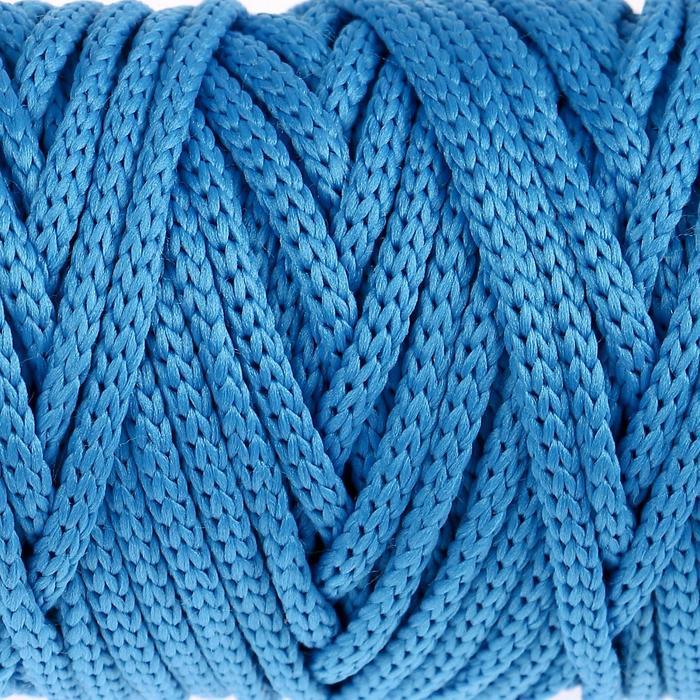 """Шнур для рукоделия полиэфирный """"Софтино"""" 4 мм, 50м/110гр (синий)"""