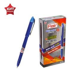 Ручка шариковая Flair Writo-Meter DX узел-игла 0.6, (пишет 10 км), шкала на стержне, синий