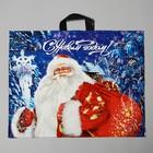 """Пакет """"Новогодний визит"""", полиэтиленовый с петлевой ручкой, 60х50 см, 70 мкм"""