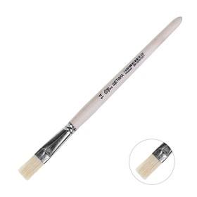 Кисть Щетина плоская №14 (ширина обоймы 14 мм; длина волоса 22 мм), деревянная ручка, Calligrata