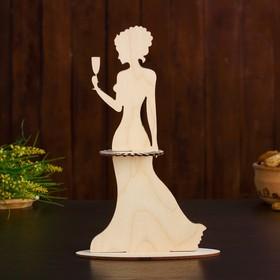 Салфетница «Дама с бокалом», 13×7×25 см