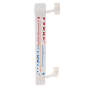 Термометр, уличный, спиртовой, оконный, на липучках, белый