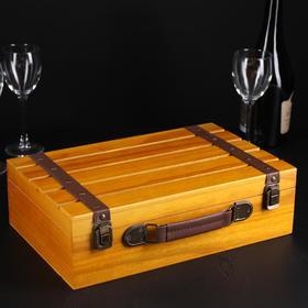 """Ящик для вина 35×23×12 см """"Вионьер"""", на 2 бутылки"""