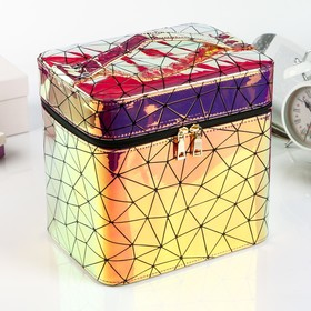 Leatherette jewelry box with mirror