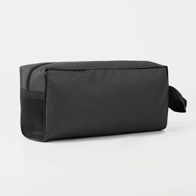 Cosmetic bag road, division zipper, with handle, color gray