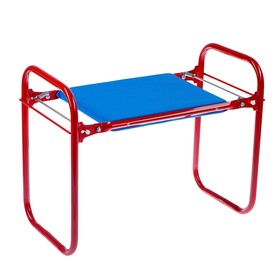 Скамейка-Перевертыш садовая складная 56х30х42,5 см, красная, макс. нагрузка 100 кг