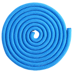 Скакалка гимнастическая утяжелённая, верёвочная, 2,5 м, 150 г, цвет синий