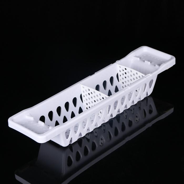 Полка детская раздвижная для ванной 60-80 см Guardian, цвет серо-сиреневый
