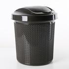 Контейнер для мусора 12 л Ajur, цвет венге