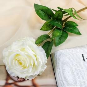 "Artificial flowers ""rose Goliath"" 12*65 cm, white"