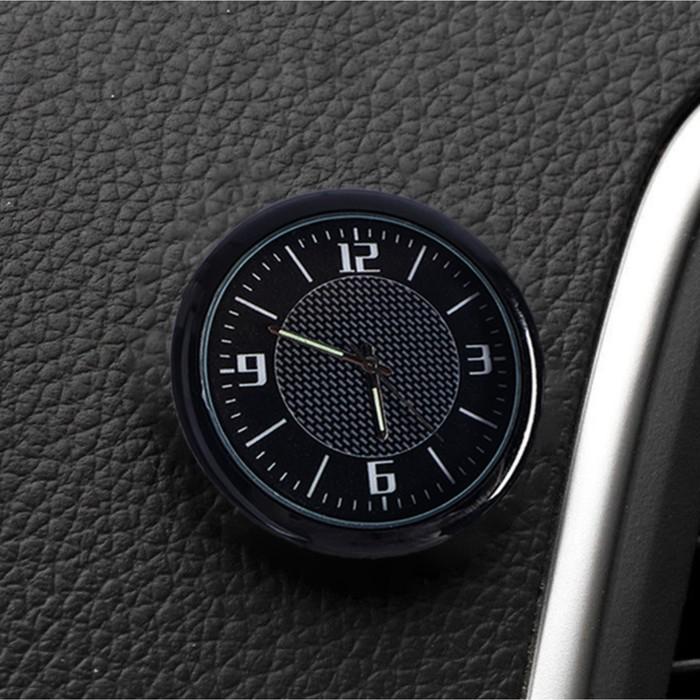 Часы автомобильные, внутрисалонные, d 4.5 см, черный циферблат