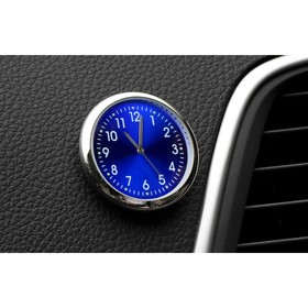 Watch the automotive, interior, diameter 4.5 cm, blue dial