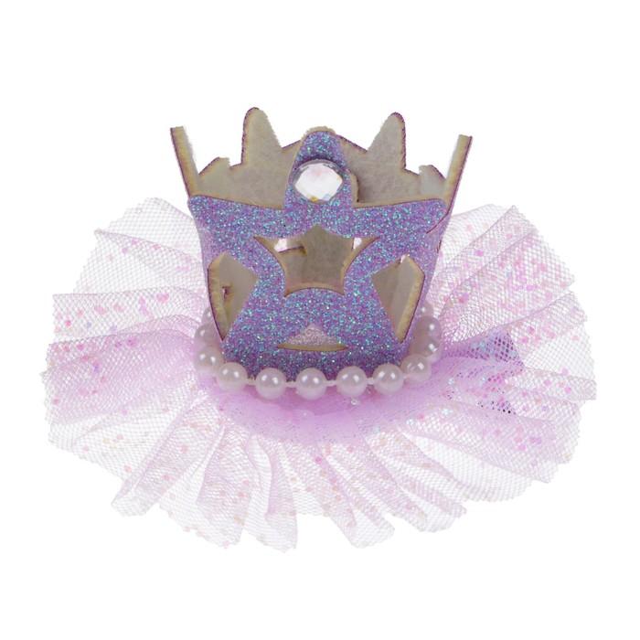 Карнавальный зажим «Корона», цвета МИКС