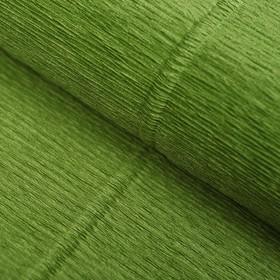 """Бумага гофрированная 622 """"Оливковый зелёный"""", 50 см х 2,5 м"""