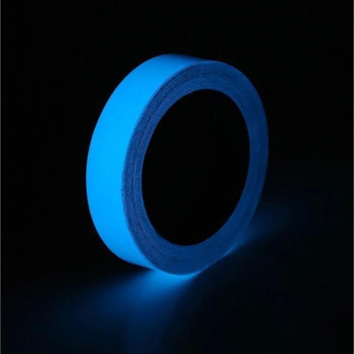 Фотолюминесцентная самоклеящаяся лента TORSO, 2х100 см, синие свечение
