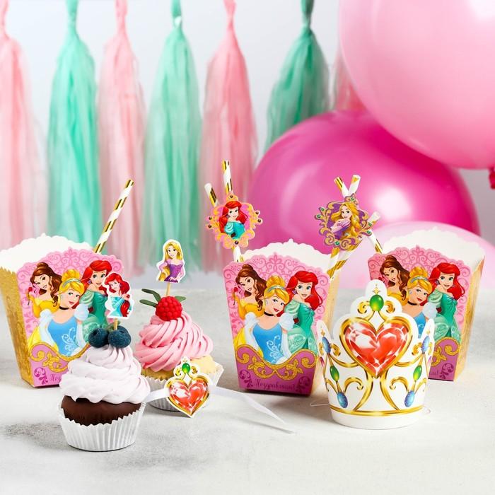 """Набор для оформления праздника """"Для принцессы"""", Принцессы, 45 предметов - фото 951210"""