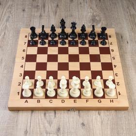 Фигуры шахматные пластиковые  (король h=9.7 см, пешка 4.2 см)