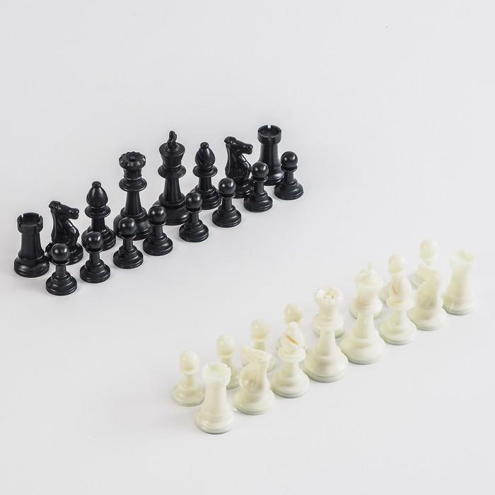 Фигуры шахматные пластиковые  (король h=7.5 см, пешка 3.5 см)