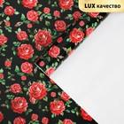 Бумага глянцевая «Розы алые», 60 х 90 см
