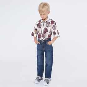 Рубашка для мальчика с коротким рукавом, цвет белый, рост 140 (10 лет)