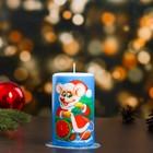 """Свеча новогодняя """"Мышонок с мешком"""" 7,7×12 см"""
