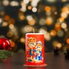 """Свеча новогодняя """"Весёлые мышата"""" 7,7×12 см"""