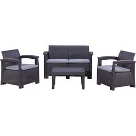 Набор мебели: диван, 2 кресла, стол, иск. ротанг, SF4-4P
