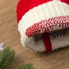 """Шапка детская MINAKU """"Дед Мороз"""", размер 50-52, цвет красный - фото 105564987"""