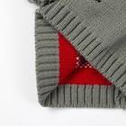 "Комплект детский (шапка, шарф) MINAKU ""Мордашка"", вид 2, размер 52-54, цвет серый - фото 105567248"