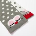 "Комплект детский (шапка, шарф) MINAKU ""Мордашка"", вид 2, размер 52-54, цвет серый - фото 105567249"