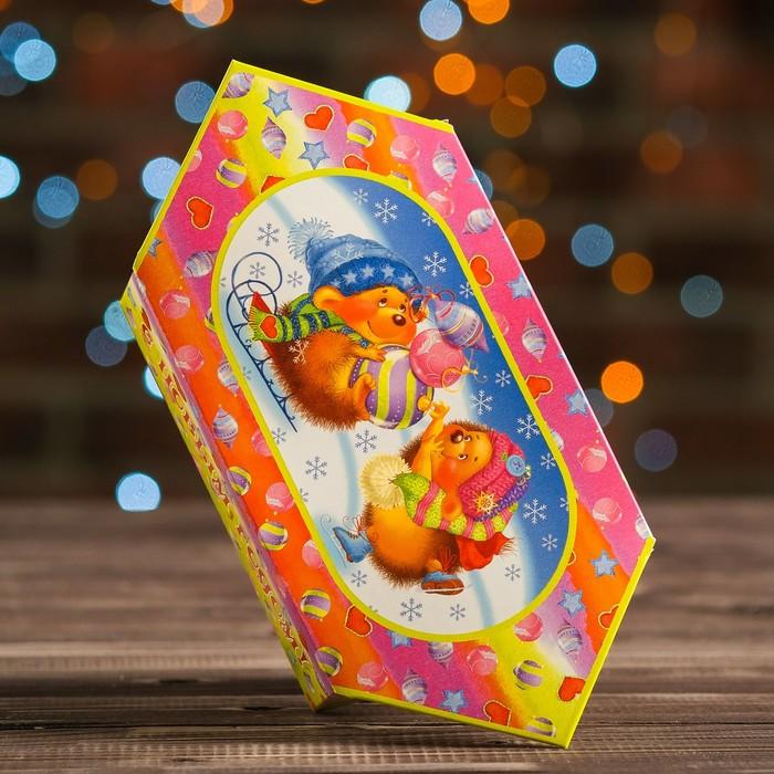 "Коробка картонная ""Зимние забавы"", 10 х 4,9 х 13 см - фото 308276048"