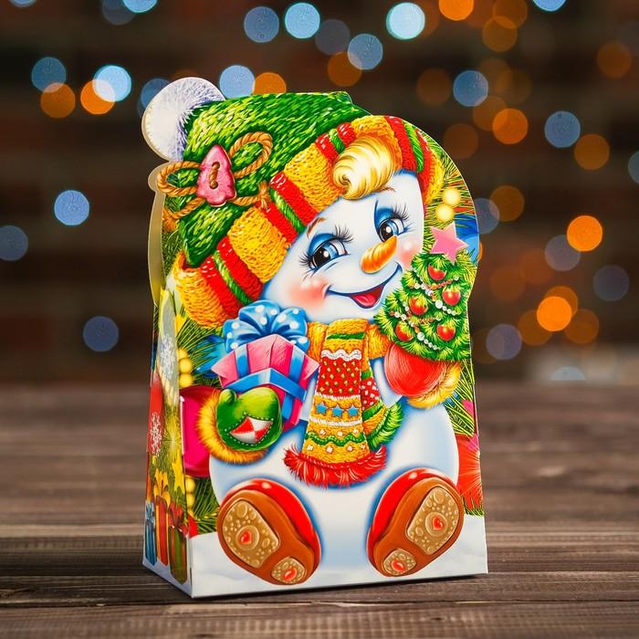 """Коробка картонная """"Снеговичок"""", 12 х 6,6 х 14,4 см - фото 308276051"""