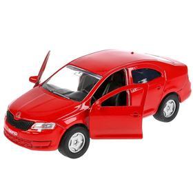 Машина Skoda Rapid, 12 см, открывающиеся двери и багажник, инерционная, цвет красный