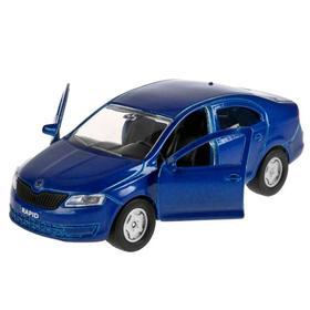 Машина Scoda Rapid, 12см, открывающиеся двери и багажник, инерционная, цвет синий
