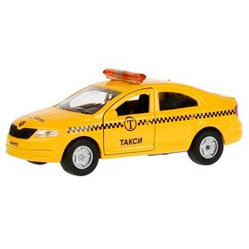 Машина такси Scoda Rapid, 12см, открывающиеся двери, инерционная металлическая