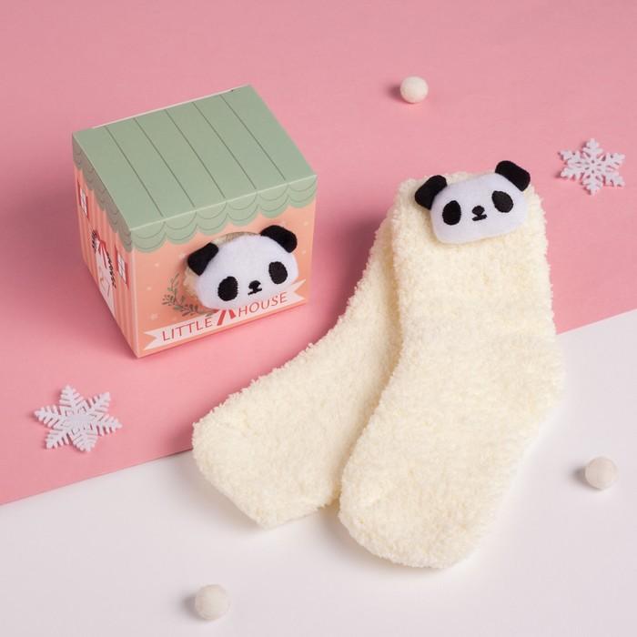 """Носки детские в подарочной коробке """"Панда"""", 12-22см, белый"""
