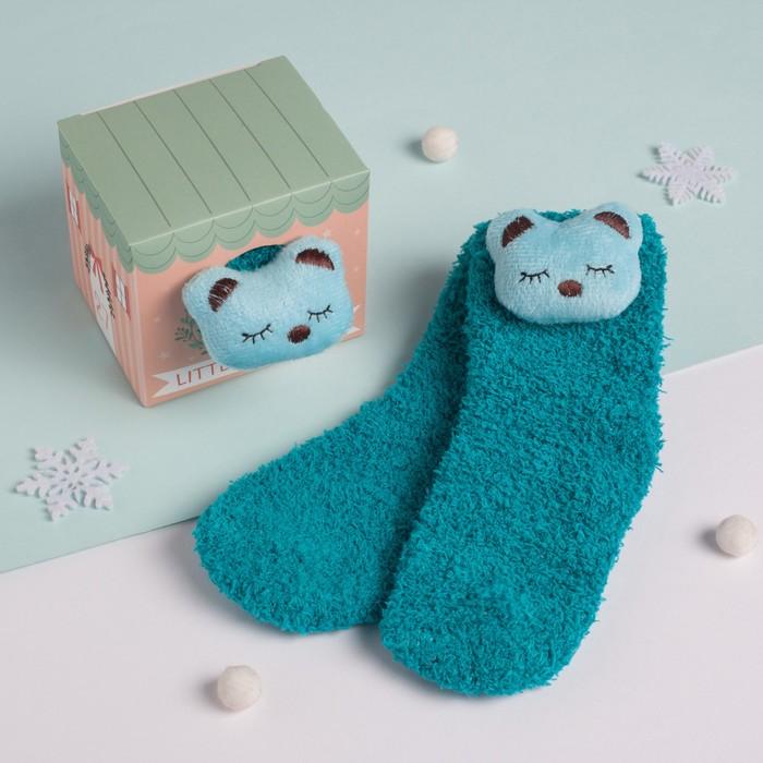 """Носки детские в подарочной коробке """"Мишутка"""", 12-22см, голубой"""