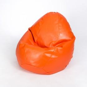 Кресло-мешок «Люкс», ширина 100 см, высота 150 см, оранжевый, экокожа